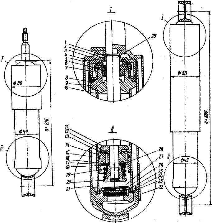 Какой диаметр штока амортизатора