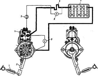 Схема электрооборудования, москвич, м-412
