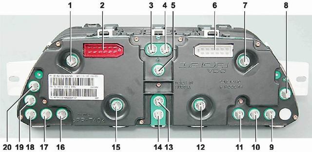 Как поменять лампочки на панели приборов ваз 2114